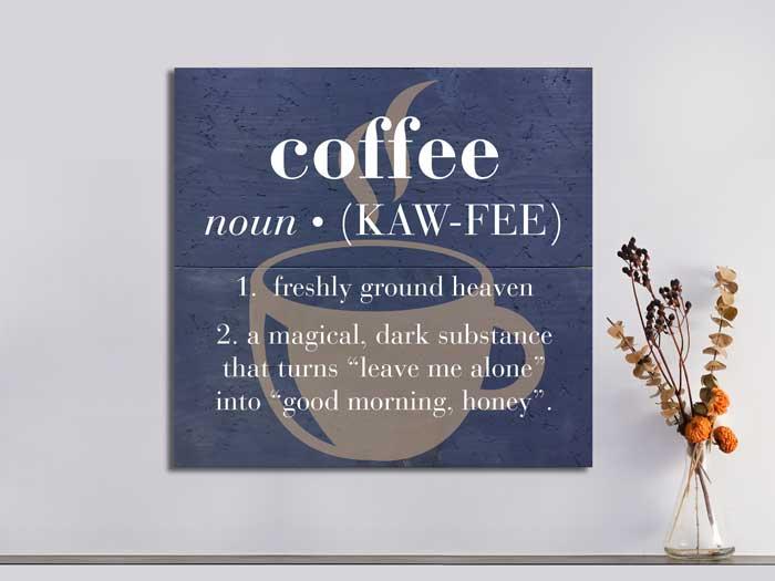 Coffee Definition, 22.5×24