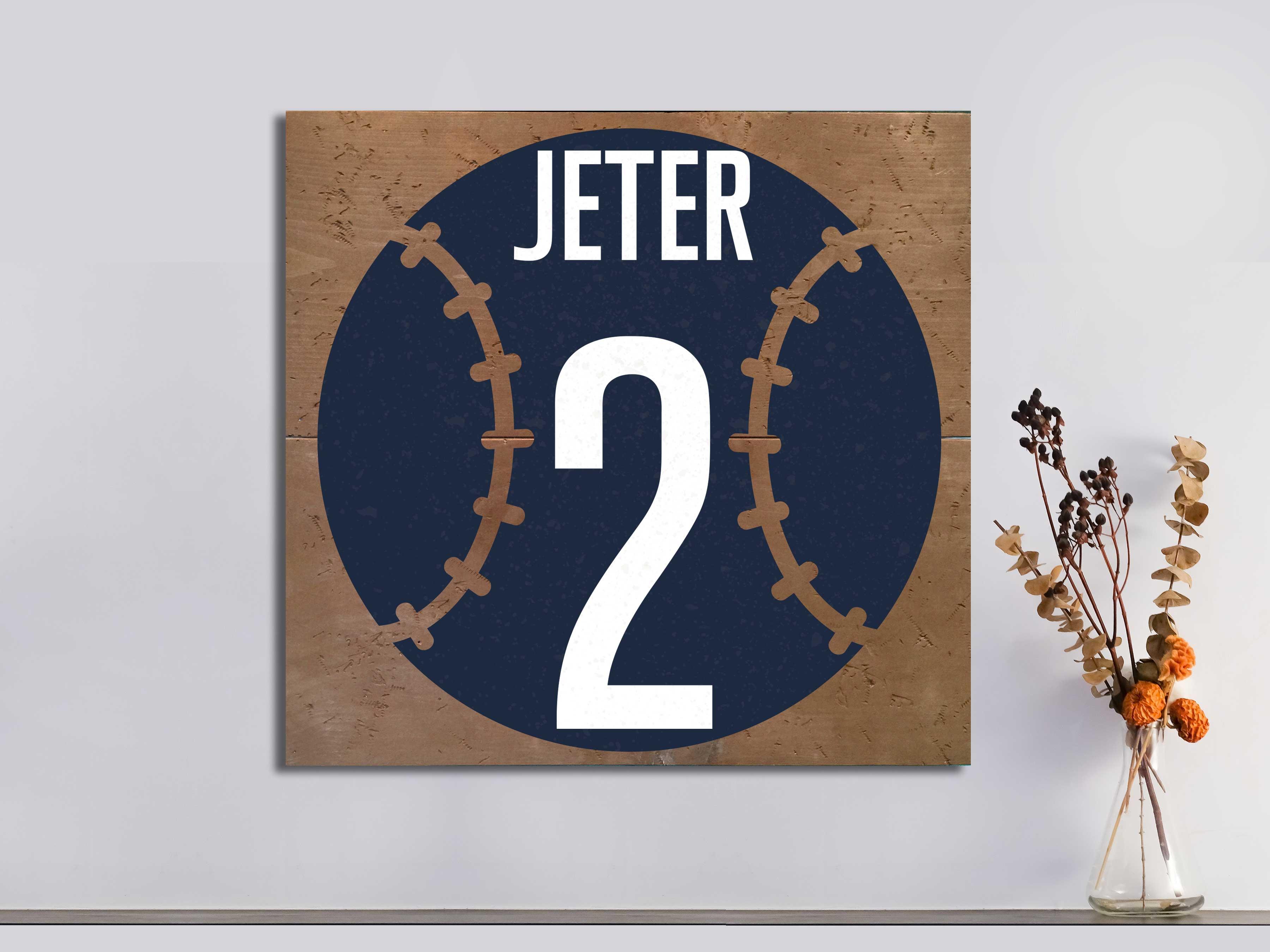 Baseball Number 22×24