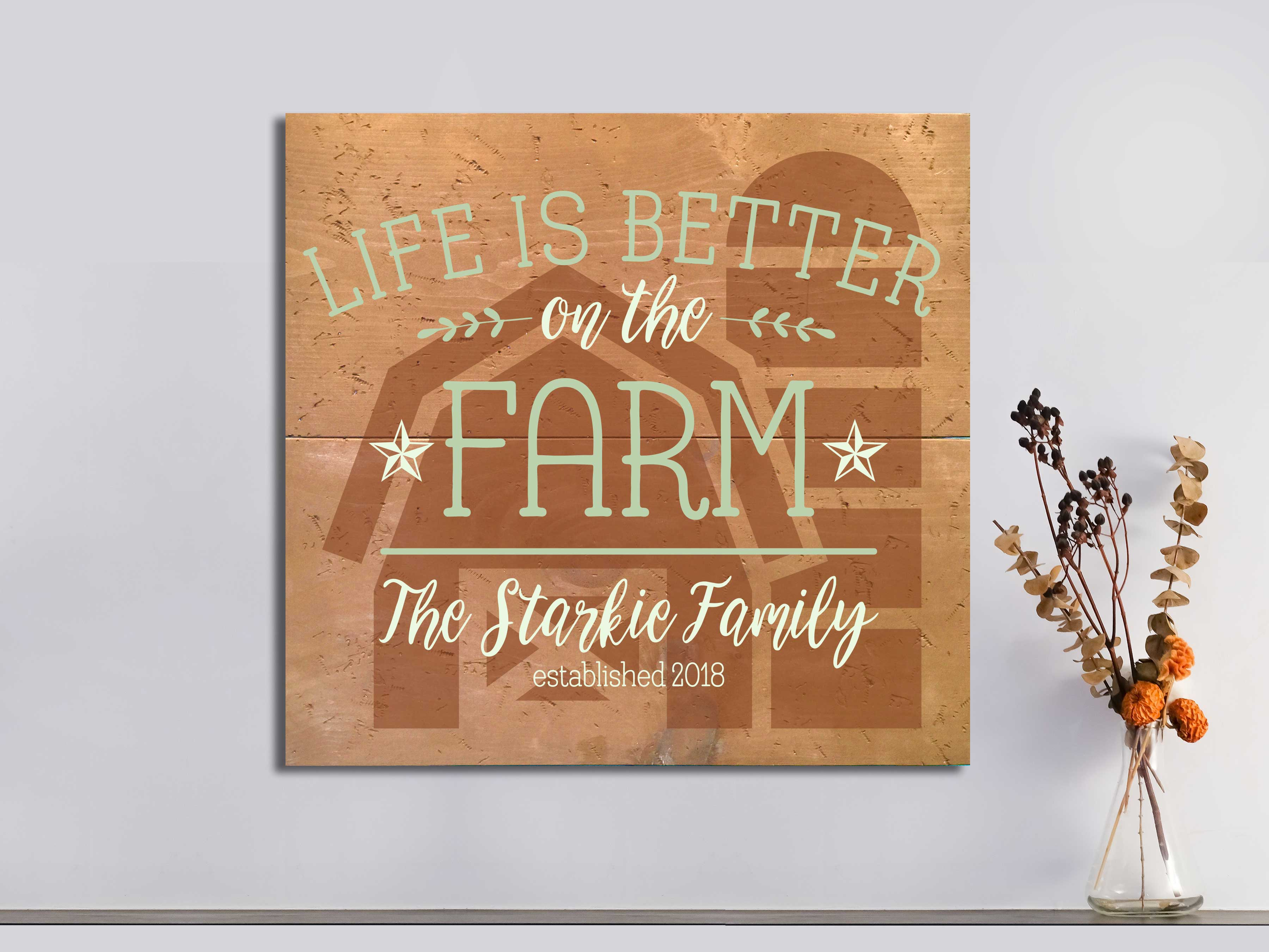 Life is Better on the Farm 22×24