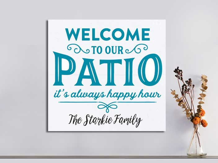 Welcome Patio Family 22×24