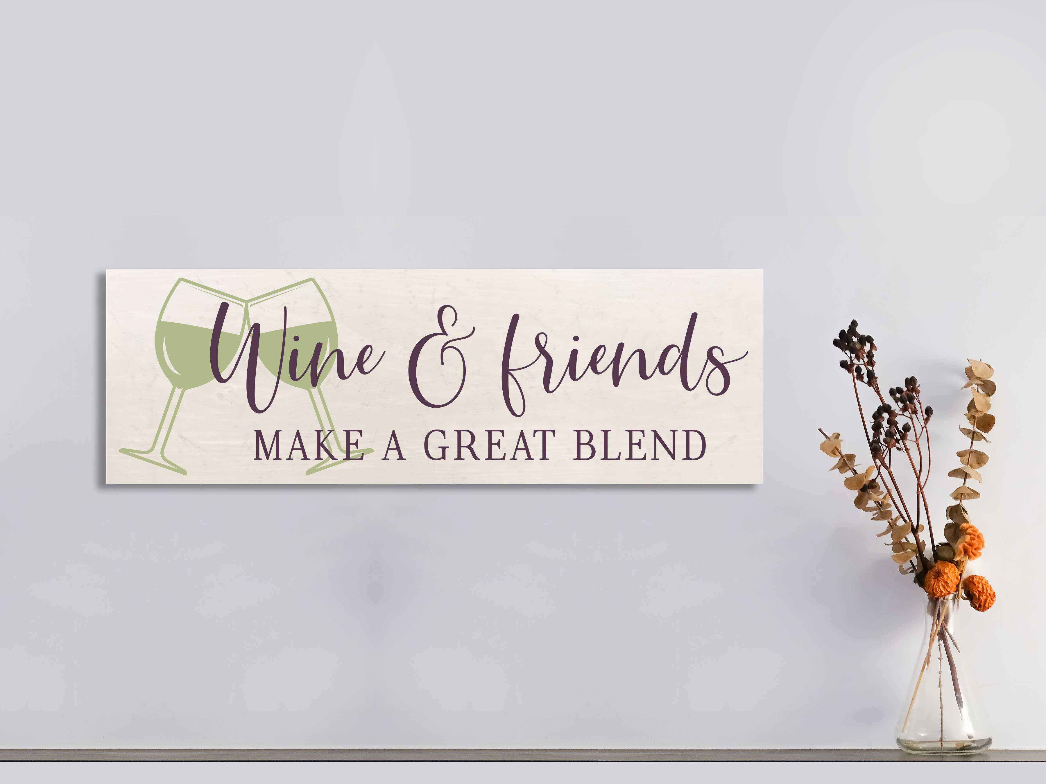 Wine & Friends 11×32