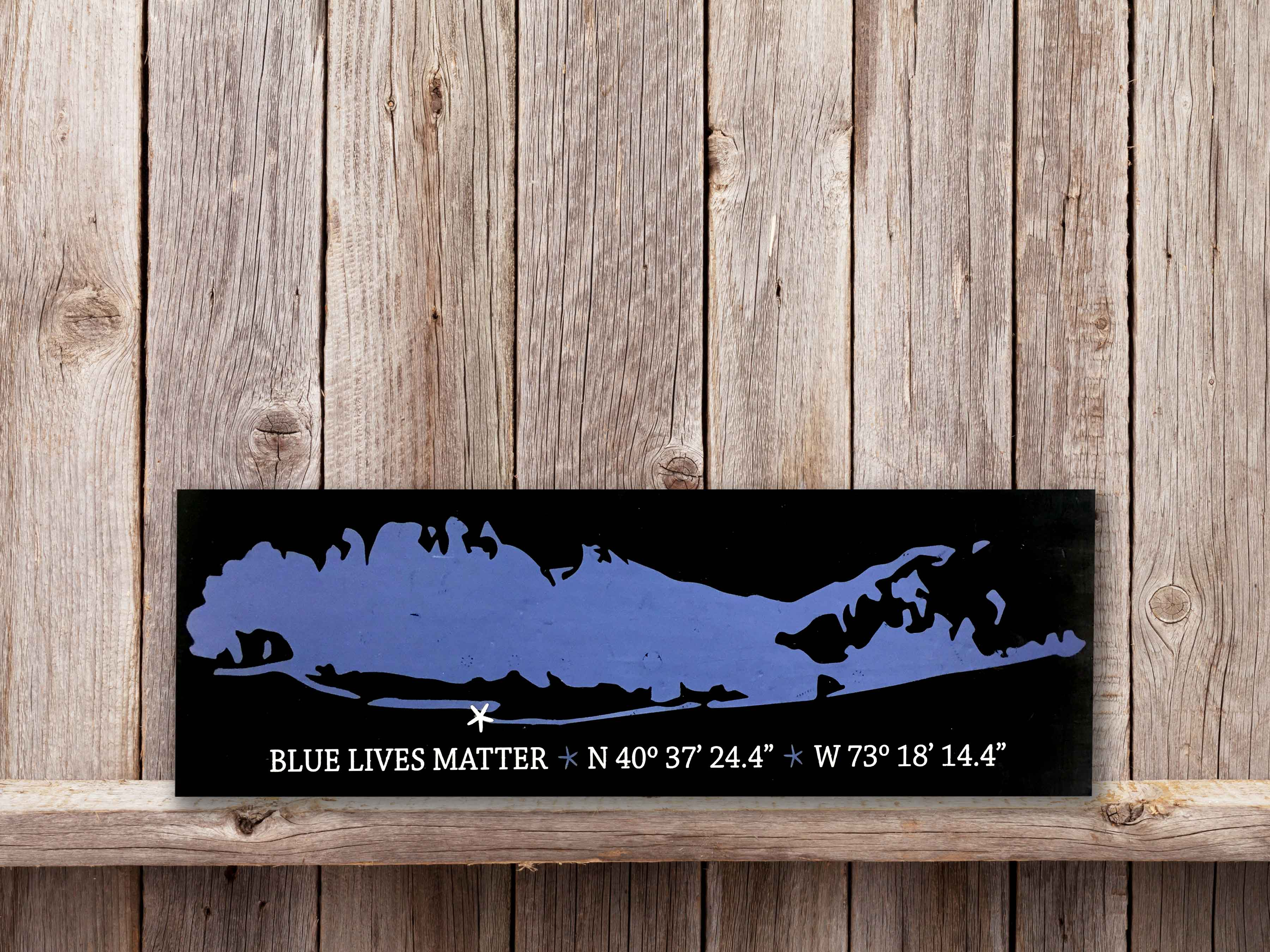 LI Map Blue Lives Matter , 11×36
