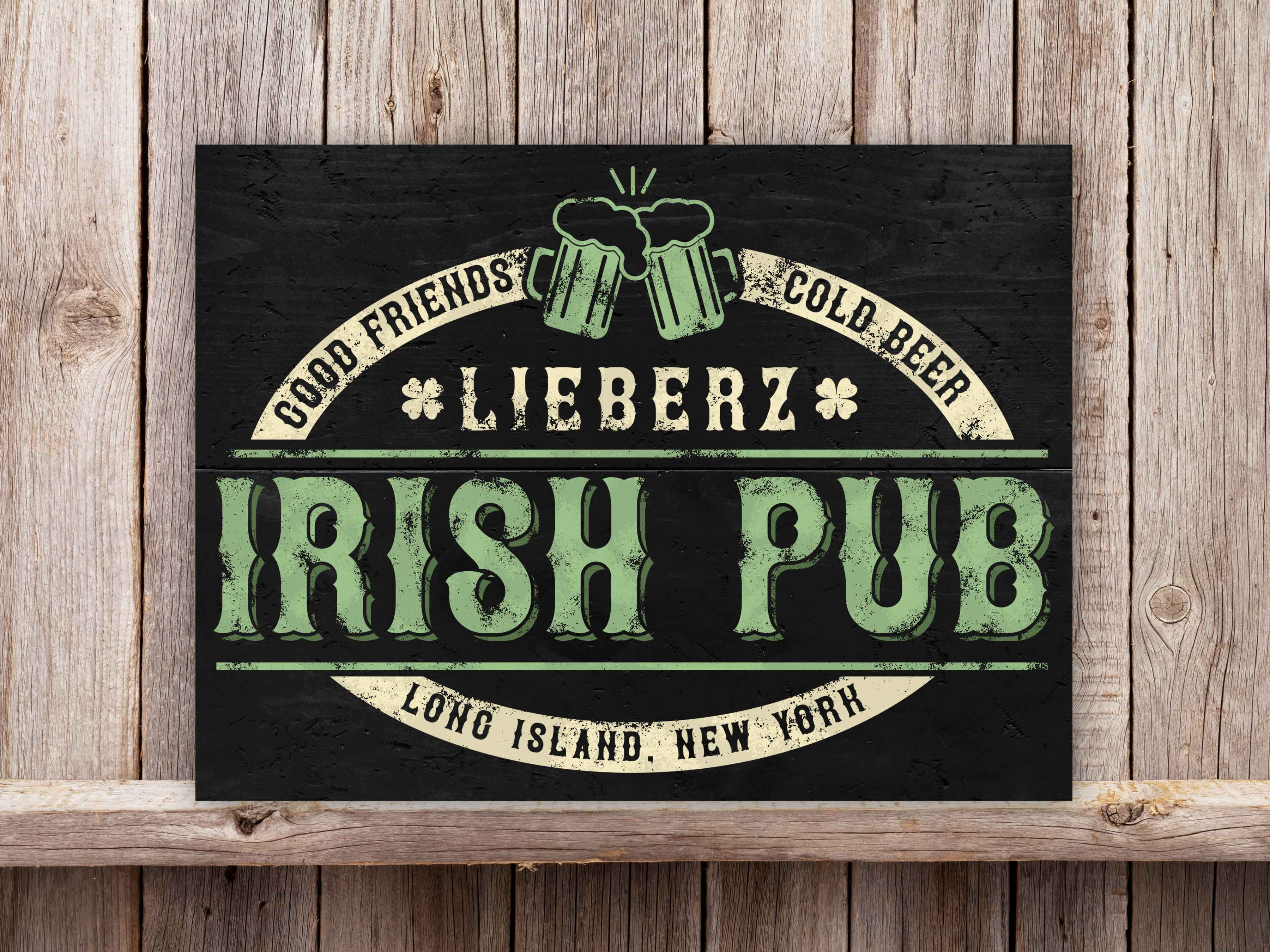Family Name Irish Pub 18×24