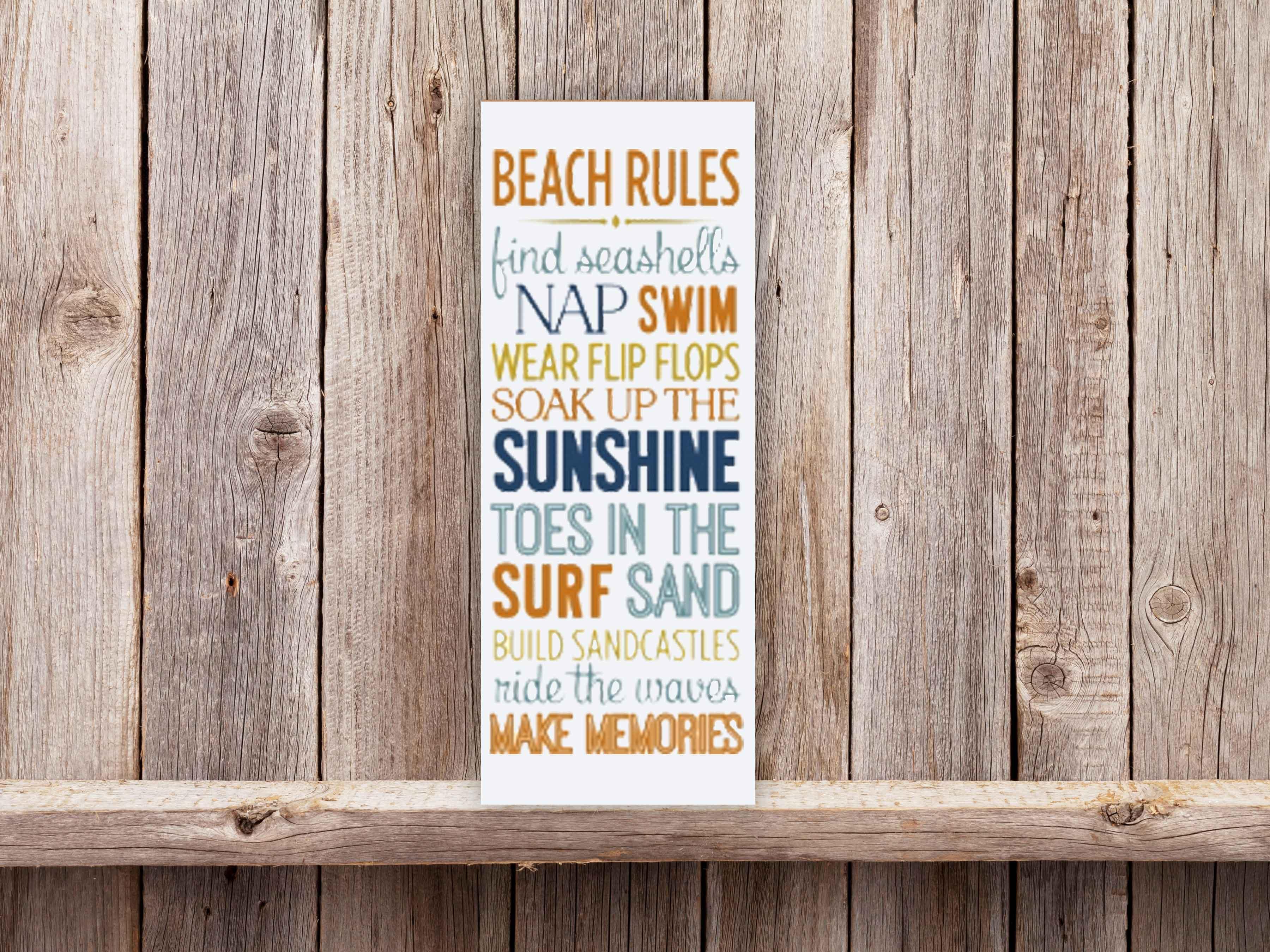 Beach Rules 9×24