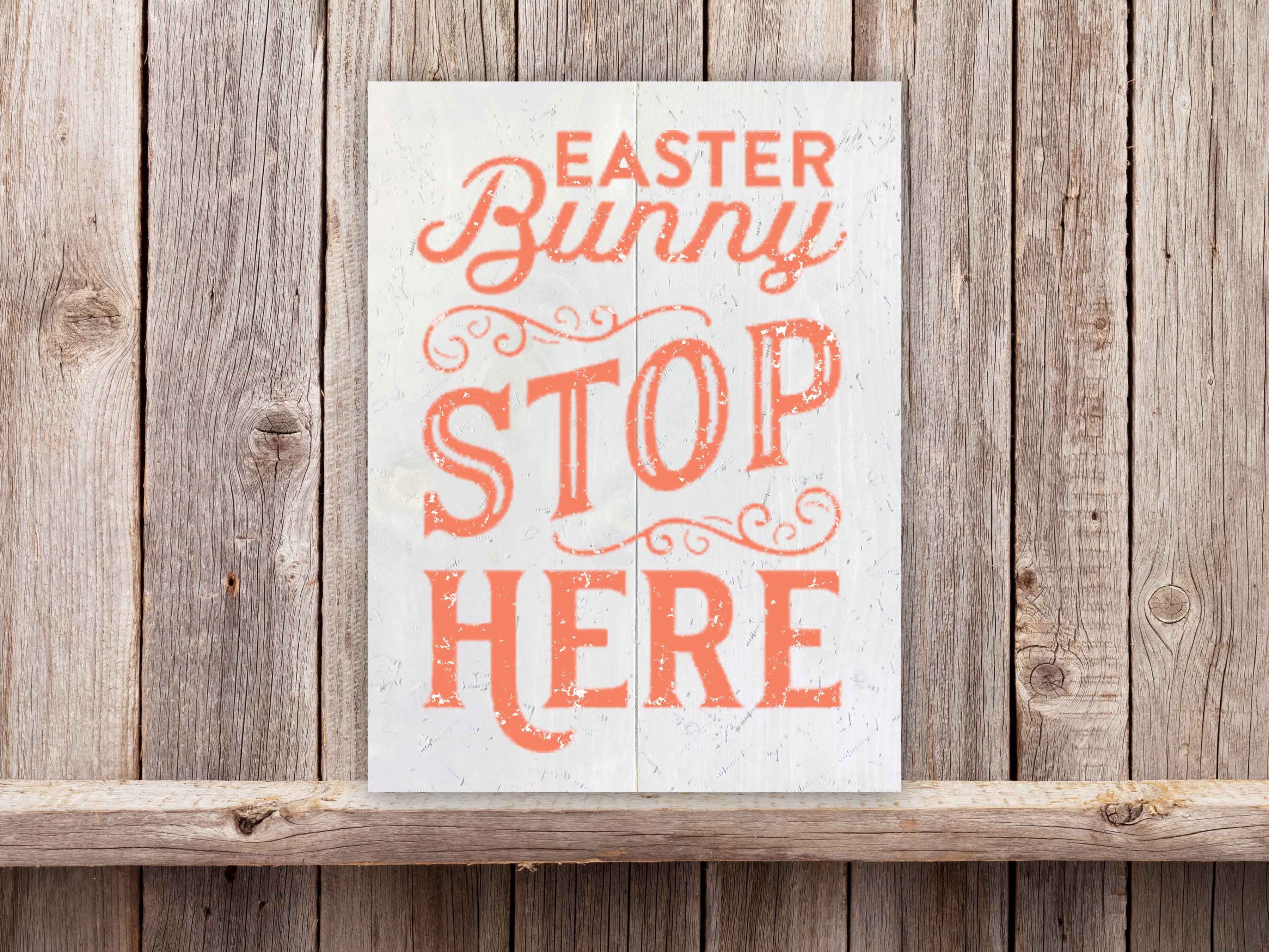 Easter Bunny Stop 18×24