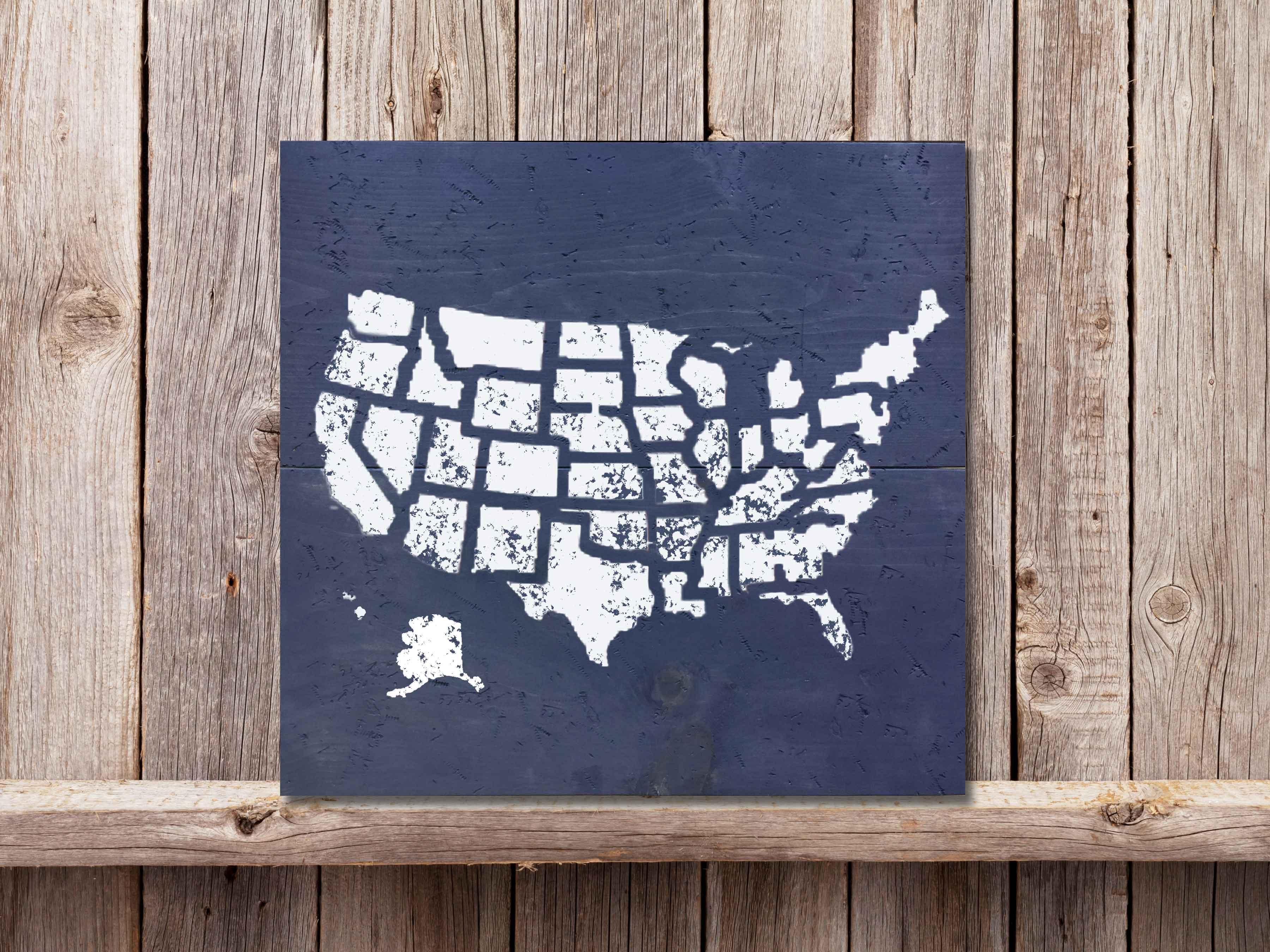 USA Map 22×24
