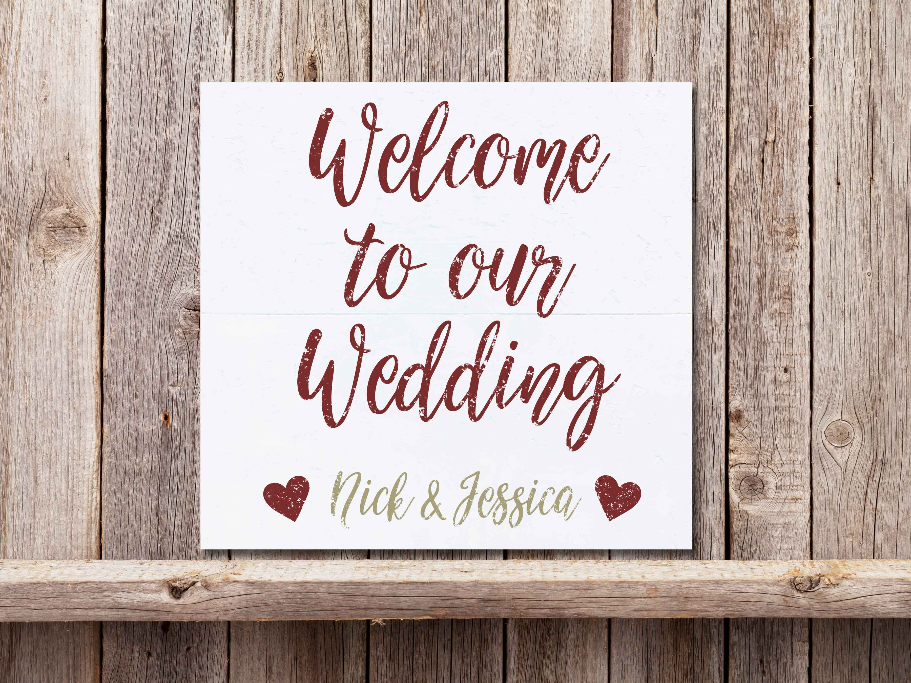 Welcome to our Wedding 22×24