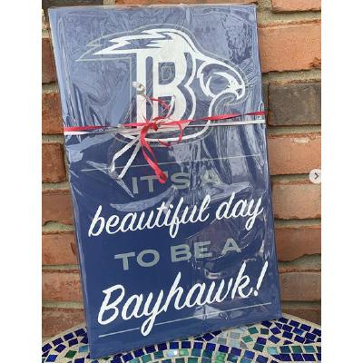 St.Dominic Bayhawk Sign