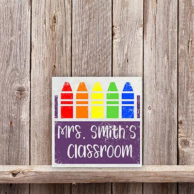 Teacher Gift – Name Crayon