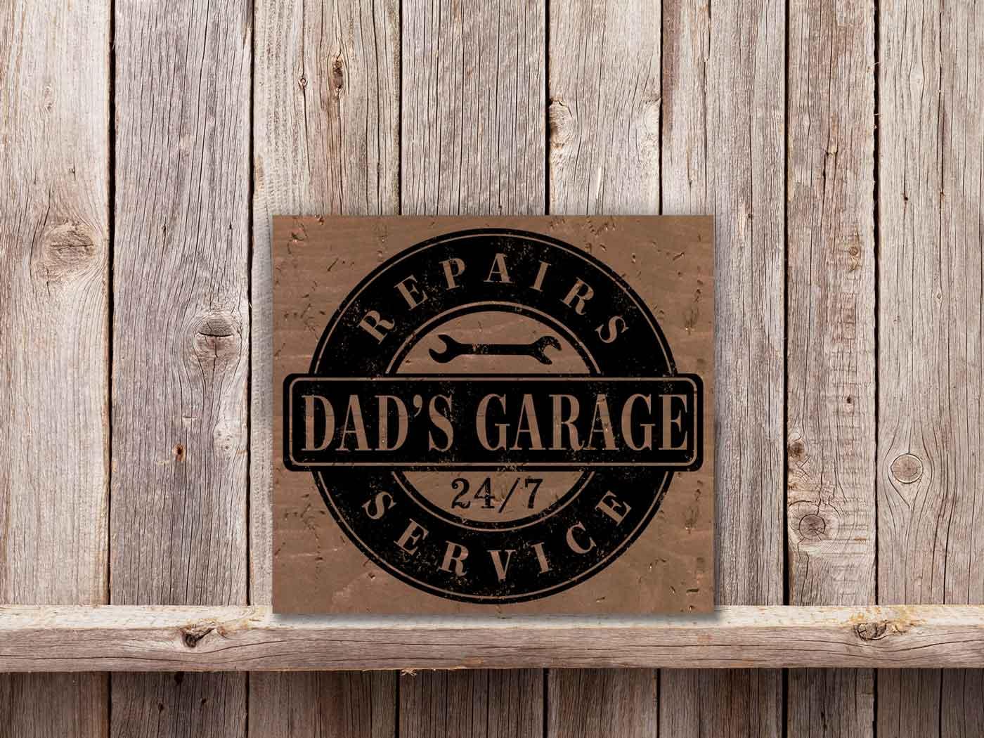 Dads Garage 18×20